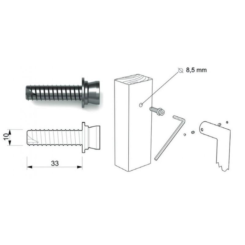 Tropex Design - Kit Di Fissaggio Per Maniglioni