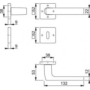 Maniglia Per Porta - Hoppe - Dallas - 1643/52K/52KS