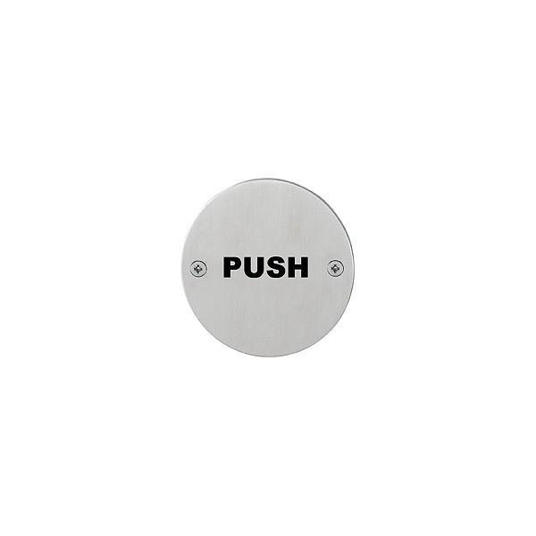"""Hoppe - Pittogramma in Acciaio - Segnaletica """"Push"""" - E663"""