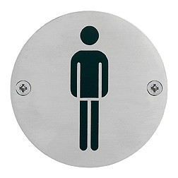 "Hoppe - Toilet Pictogram ""Man"" Icon - E664"