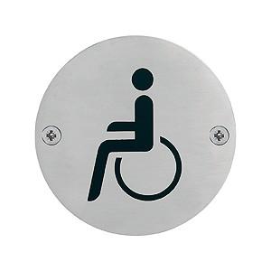 """Hoppe - Toilet Pictogram """"Disabled"""" Icon - E664"""