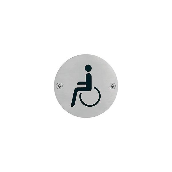 """Hoppe - Pittogramma Per Bagno - Segnaletica """"Disabili"""" - E664"""