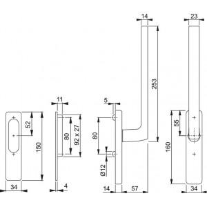 Lift Slide Handle -  Hoppe - Dallas- HS-0643/419/420