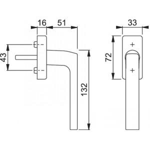 Maniglia Per Finestra - Hoppe - Martellina Dk Dallas- E0643/US944