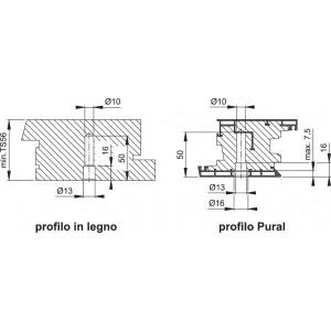 Hoppe - Kit di Fissaggio Per Maniglioni - Legno, PVC, Alluminio e Vetro