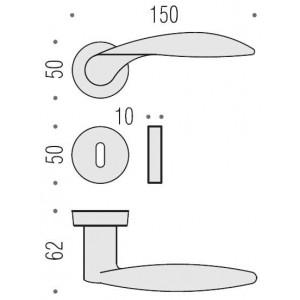 Maniglia Per Porta - Colombo Design - Wing DB31-R
