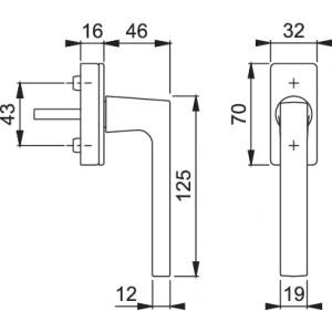 Maniglia Per Finestra - Hoppe - Martellina dk Dallas - M0643/US943