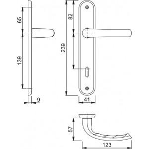 Maniglia Per Porta su Placca - Hoppe - Santiago - M1740/332P