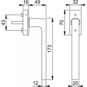 Maniglia Per Scorrevole Parallelo - Hoppe - Martellina Dk Dallas - PSK-M0643/US943
