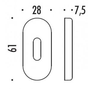Colombo Design - Bocchetta Stretta Foro Ovale - CD73BS-BB