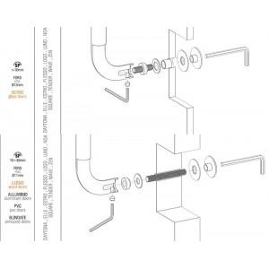 Colombo Design - Fissaggio Per Maniglione Passante Singolo - KIT PS