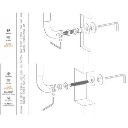 Colombo Design - Single Pull-Bolt Trough - KIT PS