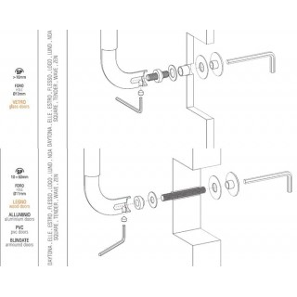 Colombo Design - Single Pull-Bolt Trough - KIT PS