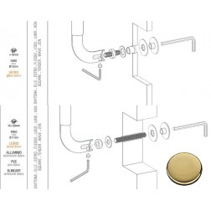 Colombo Design - Fixing Kit Single Pull-Bolt Through - KIT PS