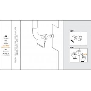 Colombo Design - Fissaggio Per Maniglione Non Passante Singolo - KIT NP2