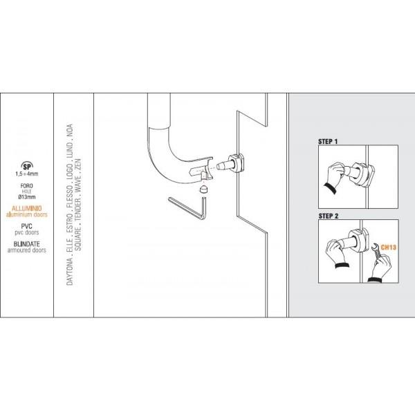 Colombo Design - Single Face Fixing - KIT NP2