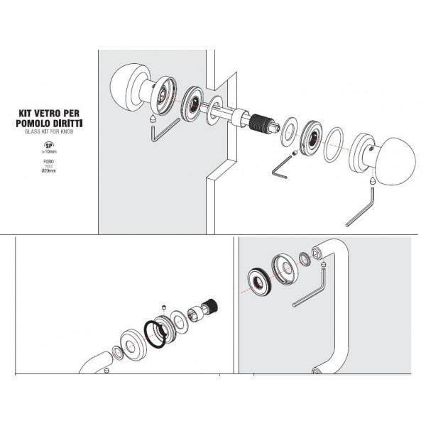 Colombo Design - Back To Back Fixing - GLASS KIT