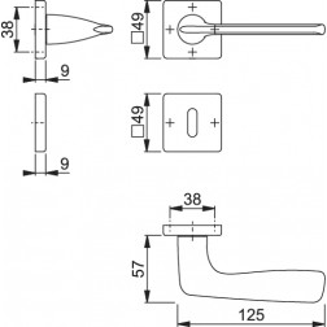 Maniglia Per Porta - Hoppe - Houston - M1623/843K/843KS