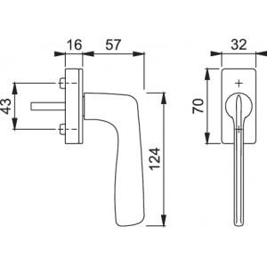Maniglia Per Finestra - Hoppe - Martellina dk Houston - M0623/US943