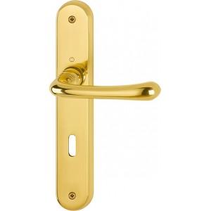 Hoppe - Maniglia Per Porta con placca - Serie Lisboa - M173/265