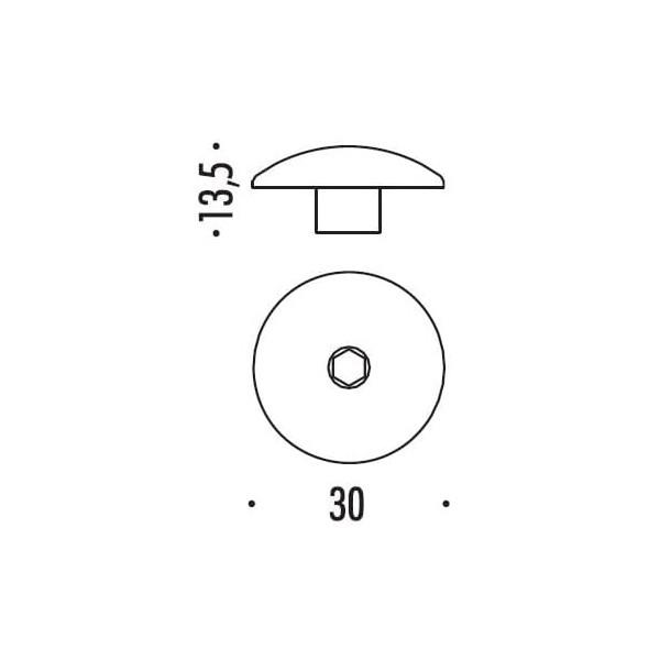 Colombo Design - Brass Nut - DADO/8