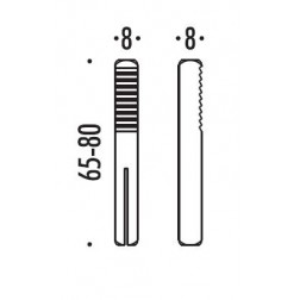 Hoppe - Quadro Ad Espansione Per Mezze Maniglie 8x8x55 mm