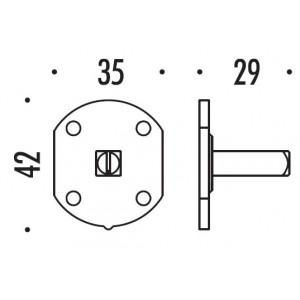 Colombo Design - Piastrina di Fissaggio Q8 - Dummy/C