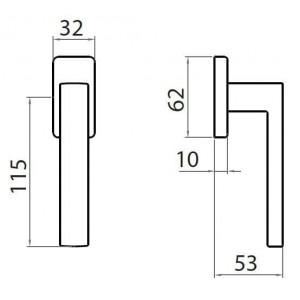 Ghidini - Maniglia Per Finestra - Martellina Dk GM08-  Q7-40Q