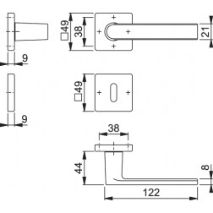 Maniglia Per Porta - Hoppe - Los Angeles - M1642/843k/843KS