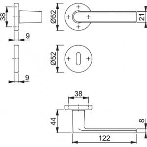 Maniglia Per Porta - Hoppe - Los Angeles - M1642/42K/42KS