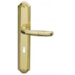 Ghidini - Door Handle on Plate - R983 QB-P