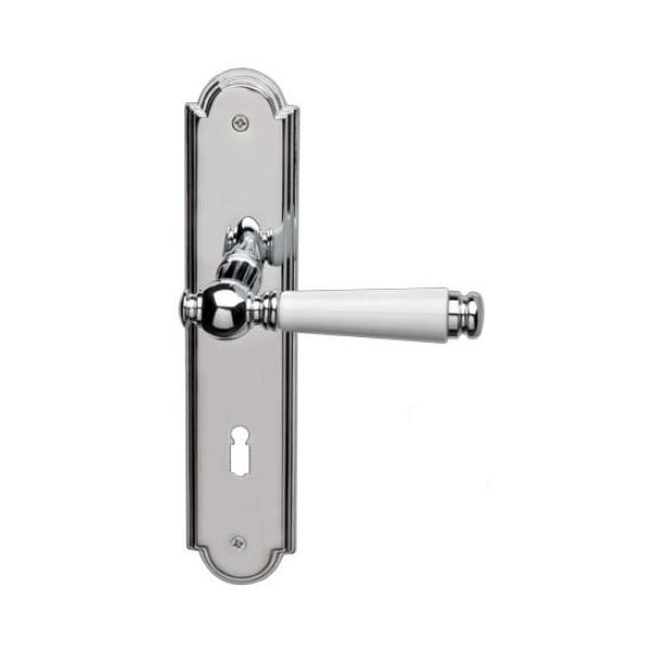 Ghidini - Door Handle on Plate - R984 QB-P