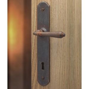 Ghidini - Maniglia Per Porta su Placca - Rustica Q8-P