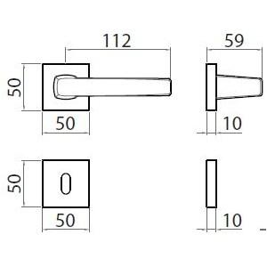 Ghidini - Maniglia Per Porta - Seven Q