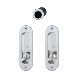 HOPPE - Sliding Door Handle -  Oval Set With Lock 4930