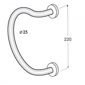 Maniglione per Porta - Tropex - Serie 3C25.22.94.43