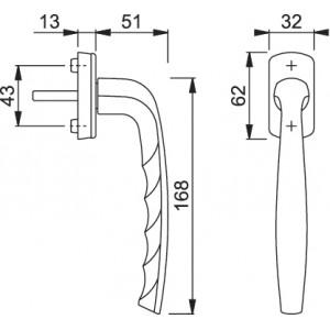Maniglia Per Scorrevole Parallelo -  Hoppe - Martellina Dk New York - PSK-0810/U10