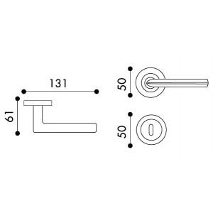 Arieni - Maniglia Per Porta - Serie Mizar 7041/C