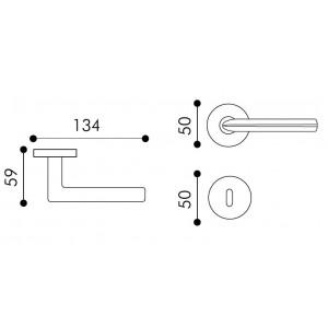 Arieni - Maniglia Per Porta - Serie Mizar Eco 7041