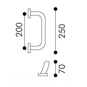 Arieni - Maniglione Per Porta - Serie Aba 770