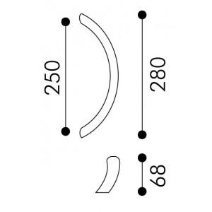 Arieni - Maniglione Per Porta - Serie Lusso 771