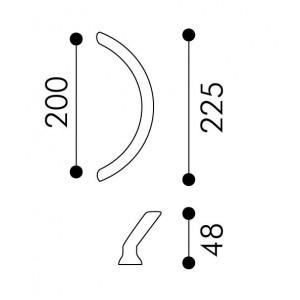 Arieni - Maniglione Per Porta - Serie Sliding 980