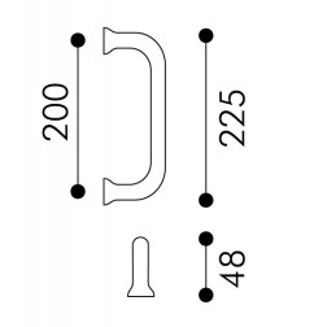 Arieni - Square Pull Handle - Sliding Series 970