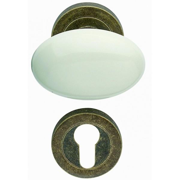 Arieni - Coppia Pomoli In Ceramica Bianca - Serie Cigno 108