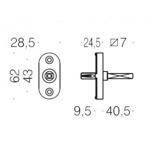 Antologhia - Meccanismo Dk Per Maniglia Su Finestra