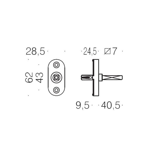 Antologhia - Steel Tilt/Turn Handle Mechanism