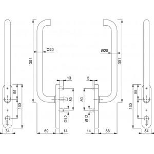 Couple Lift Slide Handles -  Hoppe - Paris - HS-E038Z/431N
