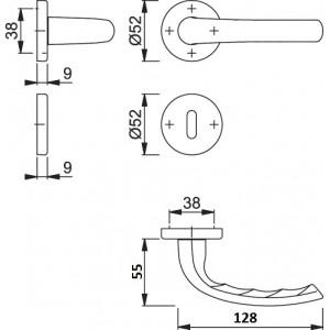 Maniglia Per Porta - Hoppe - Tokyo - 1710/42K/42KS