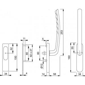 Maniglione Per Alzante Scorrevole - Tokyo - HS-571/431N/422