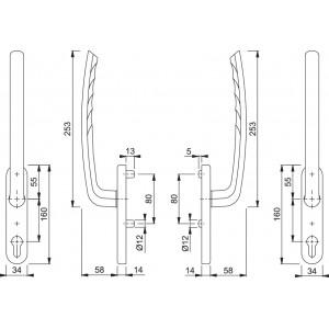 Couple Lift Slide Handles -  Hoppe - Tokyo - HS-571/431N